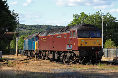 47786 / 57316 in the yard outside the diesel depot - 15/07/15.
