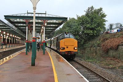 37259 (37423 rear) arr Ulverston, 2C32 05.15 Carlisle-Preston - 17/02/16.