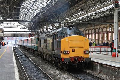 37259 (37423 rear), Preston, on rear of 2C47 10.04 to Barrow - 17/02/16.