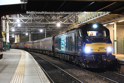 68005, Edinburgh Waverley, 2K14 18.15 ex Glenrothes with Thornton - 15/01/16.