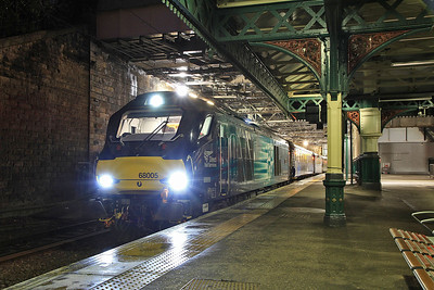 68005, Edinburgh Waverley, 2G13 17.08 to Glenrothes with Thornton - 15/01/16.