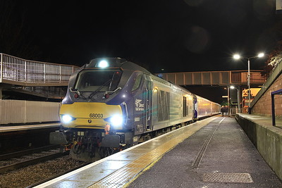 68003 & 68005 on Fife Commuters, 15th January 2016