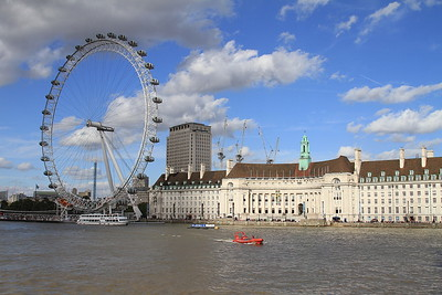 County Hall & the London Eye, Westminster - 21/08/16.