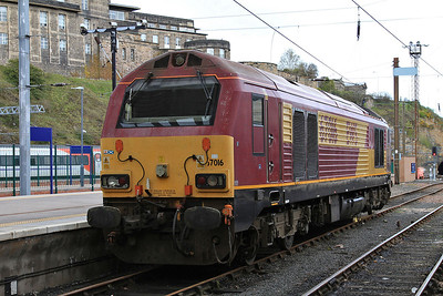 67016, Edinburgh Waverley, Thunderbird duty - 22/04/16.