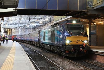 68019, Edinburgh Waverley, 2K14 18.15 ex Glenrothes with Thornton - 22/04/16.