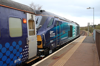 68019, Glenrothes with Thornton, 2K14 18.15 to Edinburgh - 22/04/16.