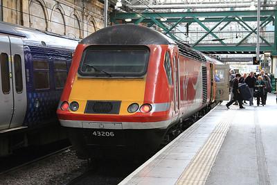 43206, Edinburgh Waverley, on rear of 1S16 12.00 Kings Cross-Inverness - 22/04/16.
