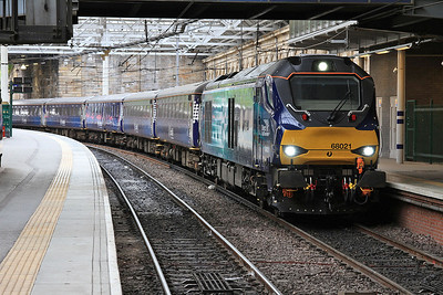 68021, Edinburgh Waverley, 2K14 18.15 ex Glenrothes With Thornton - 06/06/16.