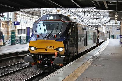 68021, Edinburgh Waverley, 2K14 18.15 ex Glenrothes With Thornton - 06/06/16.