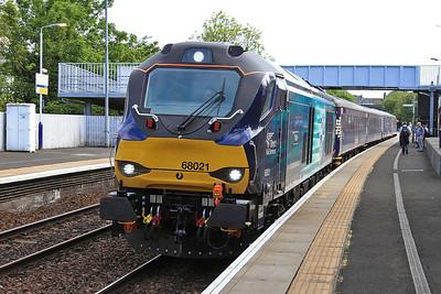 68021, Inverkeithing, 2G13 17.08 Edinburgh-Glenrothes With Thornton - 06/06/16.