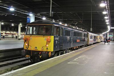 87002 'on the blocks' at Euston, 5S26 - 07/07/16.