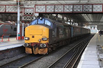 37423 (37716 rear), Preston, 2C47 10.04 to Barrow - 12/02/16.