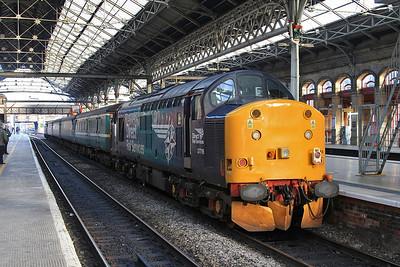 37716 (37423 front), Preston, on rear of 2C47 10.04 to Barrow - 12/02/16.