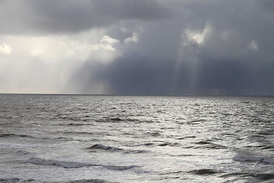 Stormy clouds and shafts of light over the sea - 18/11/16.