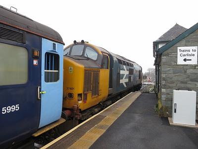 37401, Foxfield, 2C45 11.38 Barrow-Carlisle - 12/03/16.