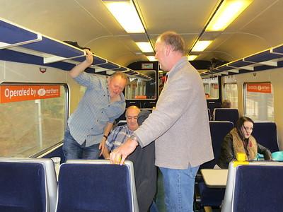 Arriving at Lancaster - all change ! - 12/03/16.
