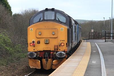 37409 dep Corkickle, 2C40 08.42 Carlisle-Barrow - 19/03/16.