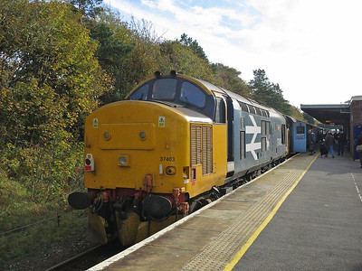 37403, Barrow, on rear of 2C40 08.42 ex Carlisle - 22/10/16.