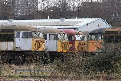 56032, 56069, 56037 & 56077 stored outside the UKRL depot, Leicester - 27/02/16.
