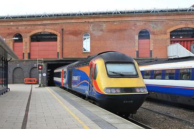 43083 dep Leicester, on rear of 1B28 07.38 Leeds-St.Pancras - 27/02/16.