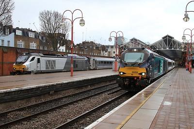 68013 / 68008, London Marylebone, 1K50 17.15 to Kidderminster / 1U50 17.21 to Banbury - 04/04/16.
