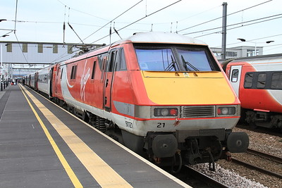 91121, Peterborough, 1A37 15.05 Leeds-Kings Cross - 03/04/16.