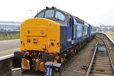 37419 (37405 rear), Great Yarmouth, 2P20 12.36 ex Norwich - 19/08/16.