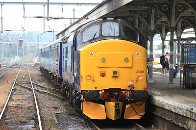 37405 (37419 front), Norwich, on rear of 2P20 12.36 to Great Yarmouth - 19/08/16.