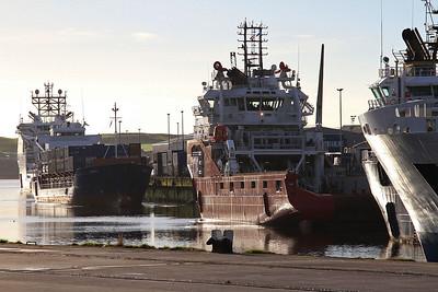 General Cargo Ship 'Daroja' and Supply Vessel 'Skandi Saigon' berthed in Aberdeen harbour - 17/09/16.
