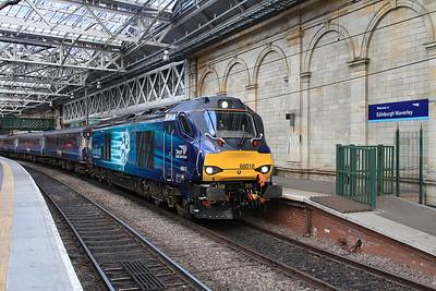 68018, Edinburgh Waverley, 2K18 07.35 ex Cardenden - 22/09/16.