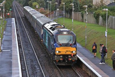 68018 arr South Gyle, 2K18 07.35 Cardenden-Edinburgh - 22/09/16.