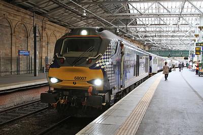 68007, Edinburgh Waverley, 2G13 17.08 to Glenrothes with Thornton - 21/09/16.