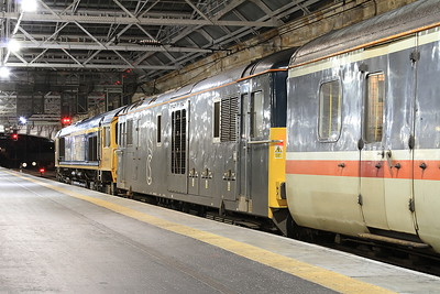 66739 + 73970, Edinburgh Waverley, 1B01 19.00 Portion ex Fort William - 22/09/16.