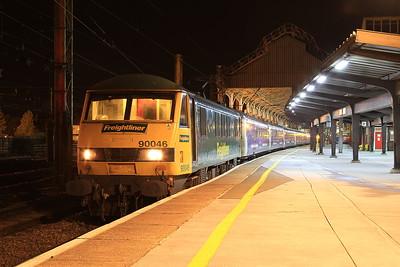 90046, Preston, 1M16 20.44 Inverness-Euston - 03/11/16.