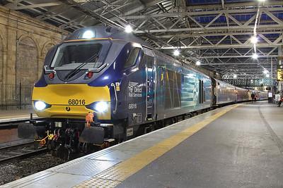 68016, Edinburgh Waverley, 2G13 17.08 to Glenrothes with Thornton - 02/11/16.