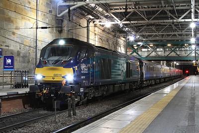 68016, Edinburgh Waverley, 2K14 18.15 ex Glenrothes with Thornton - 02/11/16.