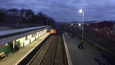 37402 growls away from Millom, pushing 2C34 14.35 Carlisle-Barrow - 03/11/17