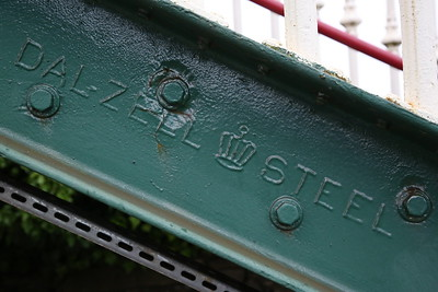 'Dalzell Steel' stamped on Kirkby-in-Furness footbridge - 16/06/17.