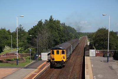 37425 dep Wigton, 2C45 11.38 Barrow-Carlisle - 17/06/17.