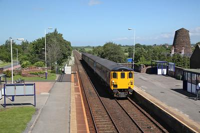 37425 arr Wigton, on rear of 2C34 14.33 Carlisle-Barrow - 17/06/17.