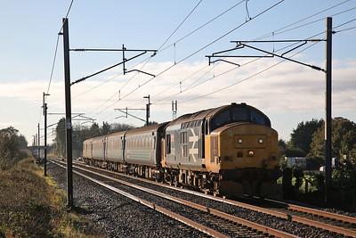 37402 growls past Brock, 2C47 10.04 Preston-Barrow - 27/10/17