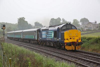 37425 departs Silverdale, 2C47 10.04 Preston-Barrow - 29/05/17.