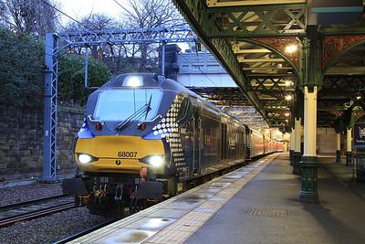 68007, Edinburgh Waverley, 2G13 17.07 to Glenrothes with Thornton - 31/01/17.