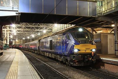 68007, Edinburgh Waverley, 2K14 18.15 ex Glenrothes with Thornton