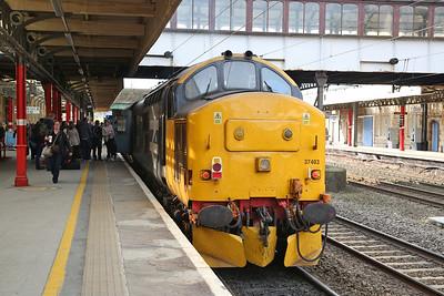 37403, Lancaster, on rear of 2C32 05.15 Carlisle-Preston - 01/05/18