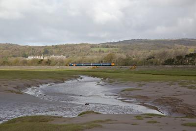 37402 leaving Grange-over-sands, 2C32 05.15 Carlisle-Preston - 03/05/18