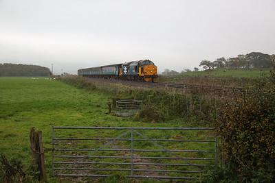 37403 approaching Foxfield, 2C45 09.18 Barrow-Carlisle - 16/10/18
