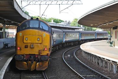 37402, Carnforth, on rear of 2C32 05.15 Carlisle-Preston - 17/05/18