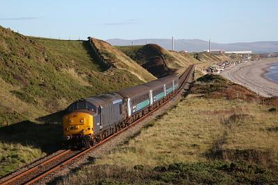37422 approaching Nethertown, 2C33 15.31 Barrow-Carlisle - 28/09/18
