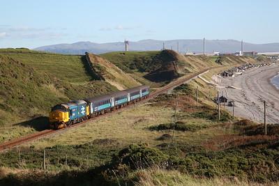 37401 approaching Nethertown, 2C59 14.52 Barrow-Carlisle - 28/09/18